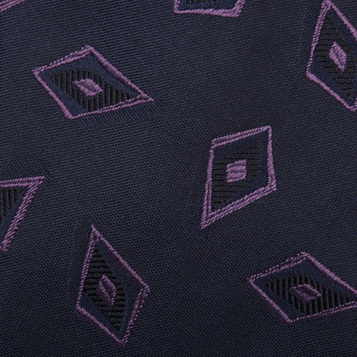 [クリケット1960] Cricket 1960 イタリア製生地 ヴィンテージ調小紋柄 ネクタイ ブラック