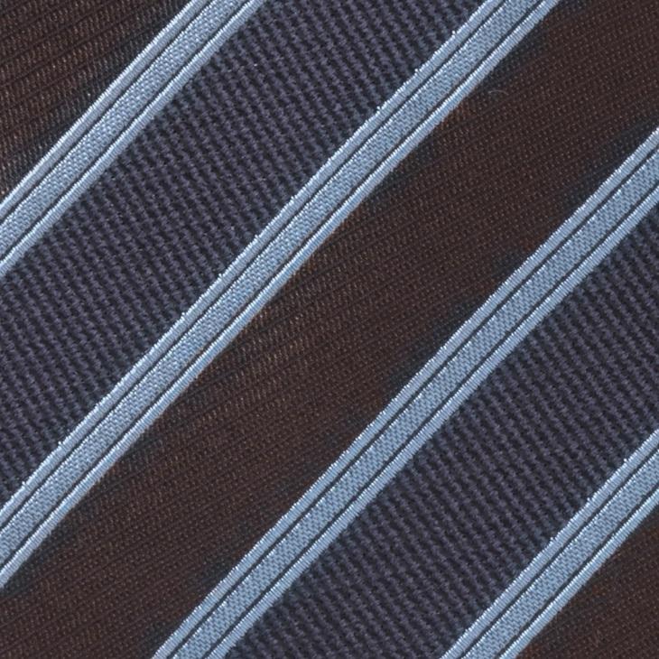[クリケット] Cricket イタリア製生地 ミックス織りストライプ ネクタイ Noble ノーブル コゲチャ