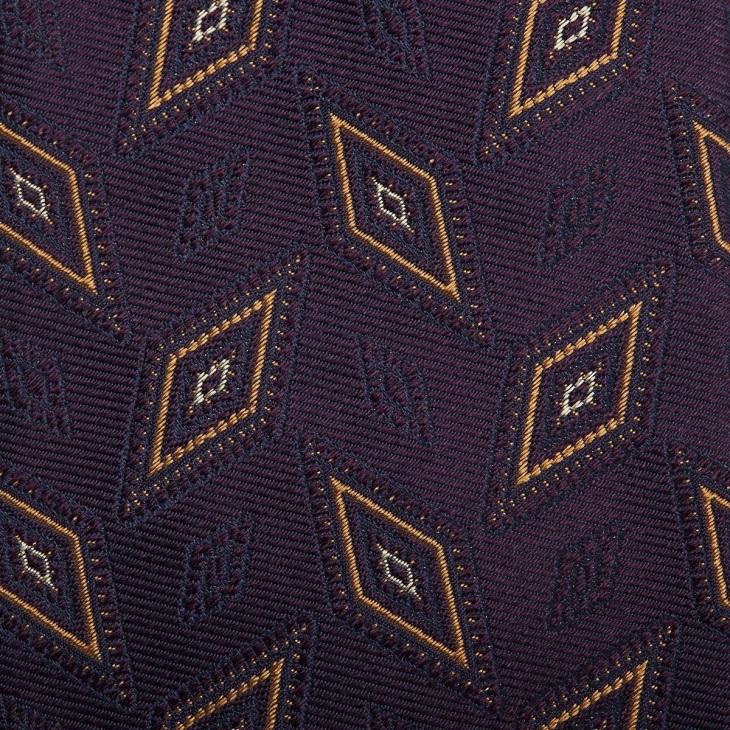 [クリケット1960] Cricket 1960 イタリア製生地 ヴィンテージ調小紋柄 ネクタイ ダークパープル
