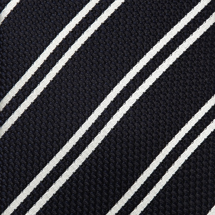 [クリケット1960] Cricket 1960 フレスコストライプ ネクタイ 日本製 ブラック