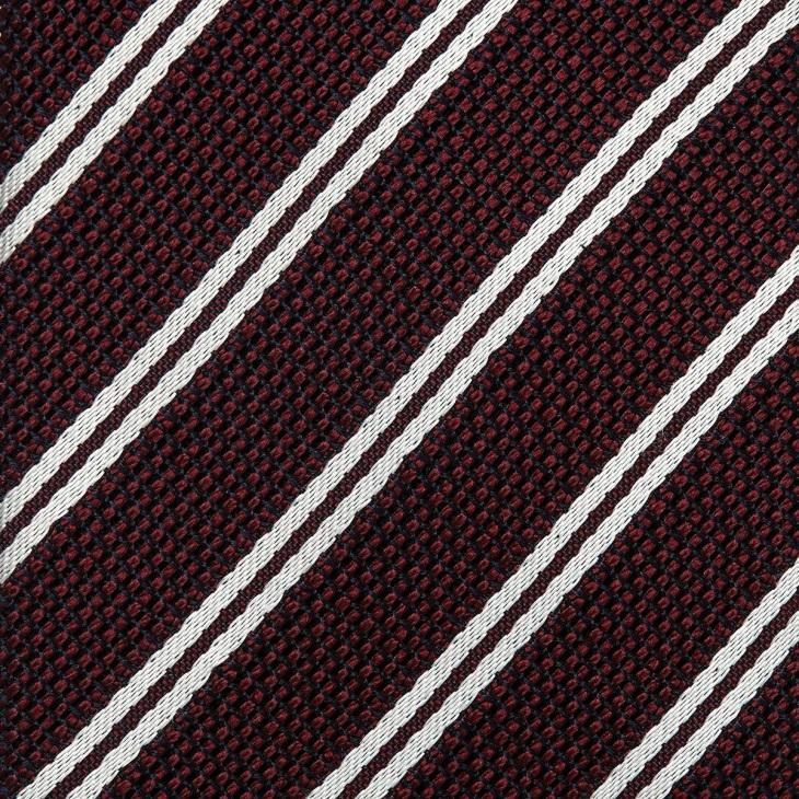 [クリケット1960] Cricket 1960 フレスコストライプ ネクタイ 日本製 ダークワイン