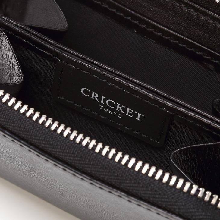 [クリケット] Cricket 水シボ型押し パルメラート ラウンドジップ ミニキー&コインケース ブラック