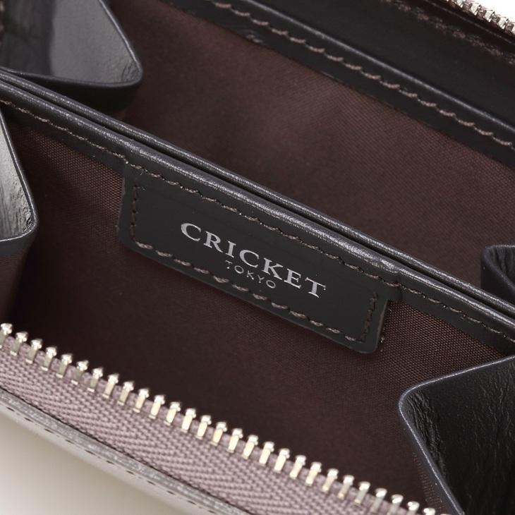 [クリケット] Cricket 水シボ型押し パルメラート ラウンドジップ ミニキー&コインケース グレー