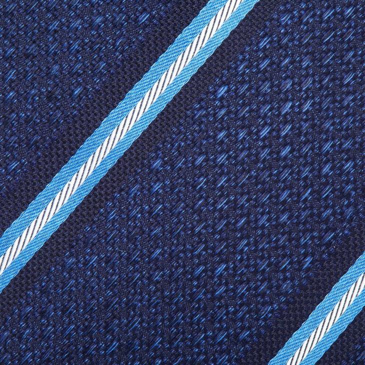 [エレディキャリーニ] eredi chiarini エレディキャリーニストライプ柄ネクタイ ブルー
