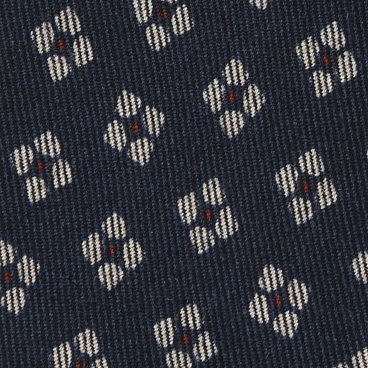 [ガリエーニ] Gallieni 小紋柄 ウールプリント ネクタイ コン
