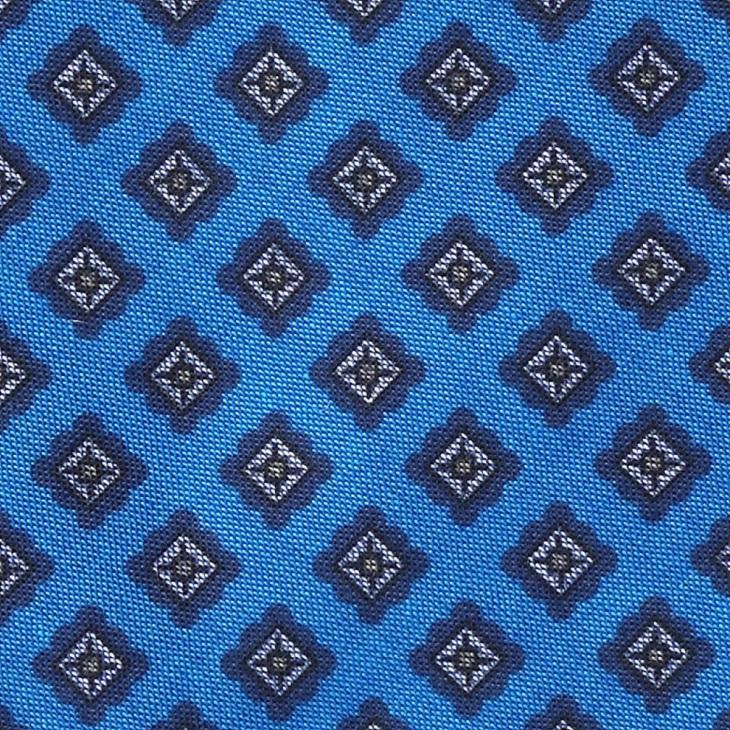 [クリケット] Cricket イタリア製デニム調生地 小紋柄プリント チョウネクタイ ブルー