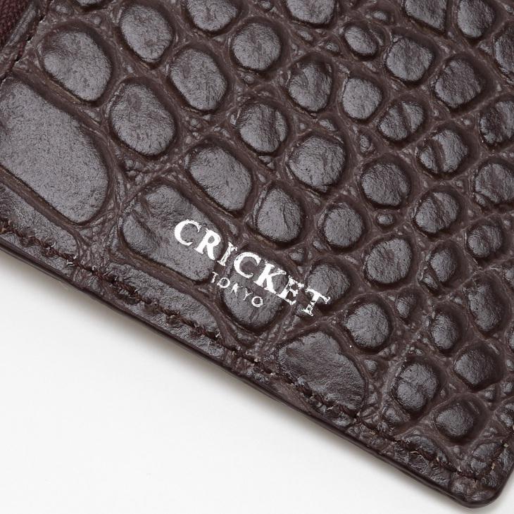 [クリケット] Cricket クロコ型押し マティスラックス ジップ付きカードケース グレージュ