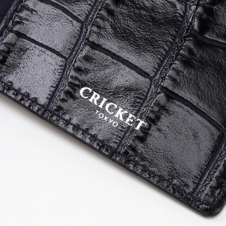 [クリケット] Cricket クロコ型押し マティスラックス ジップ付きカードケース コン
