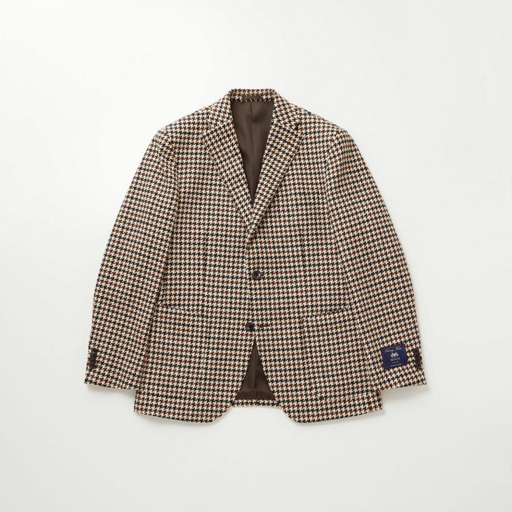 [クリケット1960]  Cricket 1960 英国製生地 ブロンテ バイ ムーン ガンクラブチェック柄 ジャケット ベージュ
