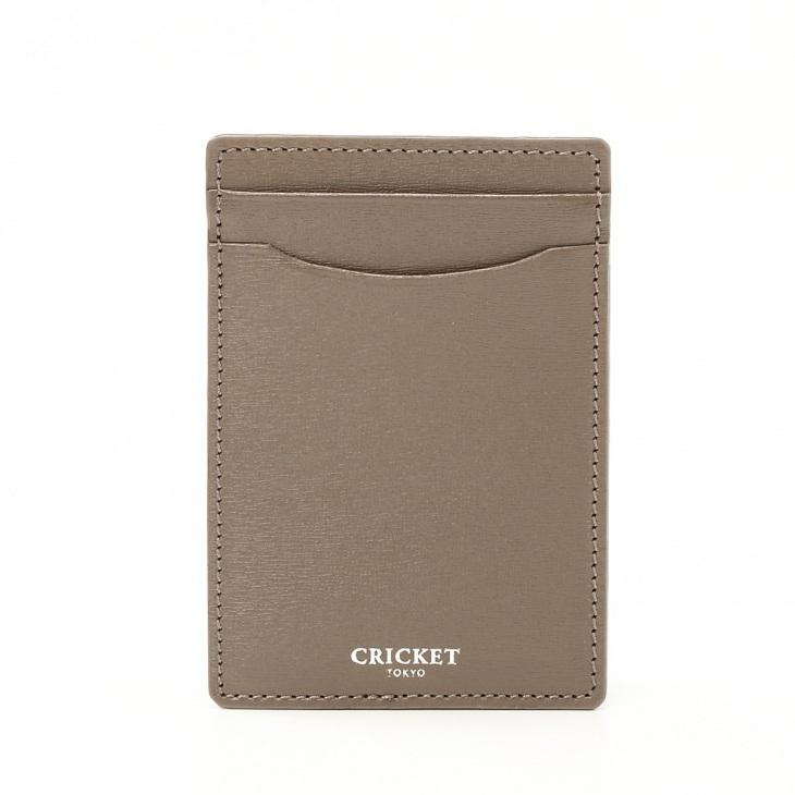 [クリケット] Cricket 水シボ型押し パルメラート シングルカードケース グレー