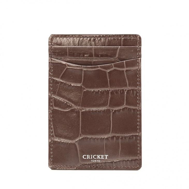 [クリケット] Cricket クロコ型押し マティスラックス シングルカードケース グレージュ