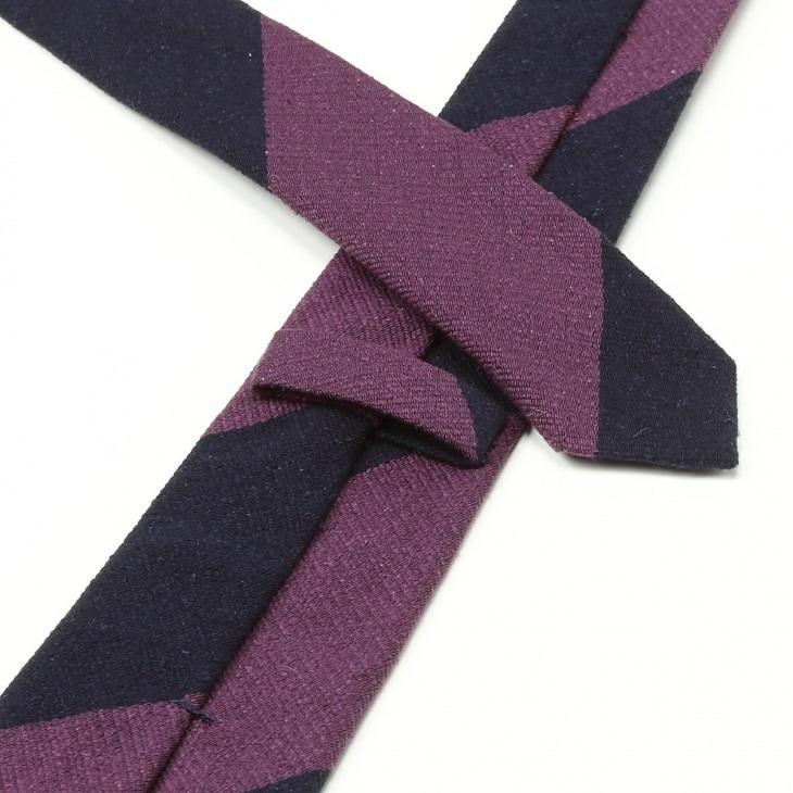 [ニッキー] Nicky 絹紡 ビッグストライプ柄 ネクタイ コン