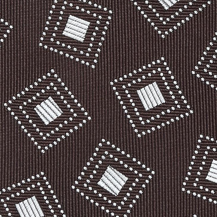 [クリケット] Cricket 四角柄 ネクタイ Premium プレミアム コゲチャ