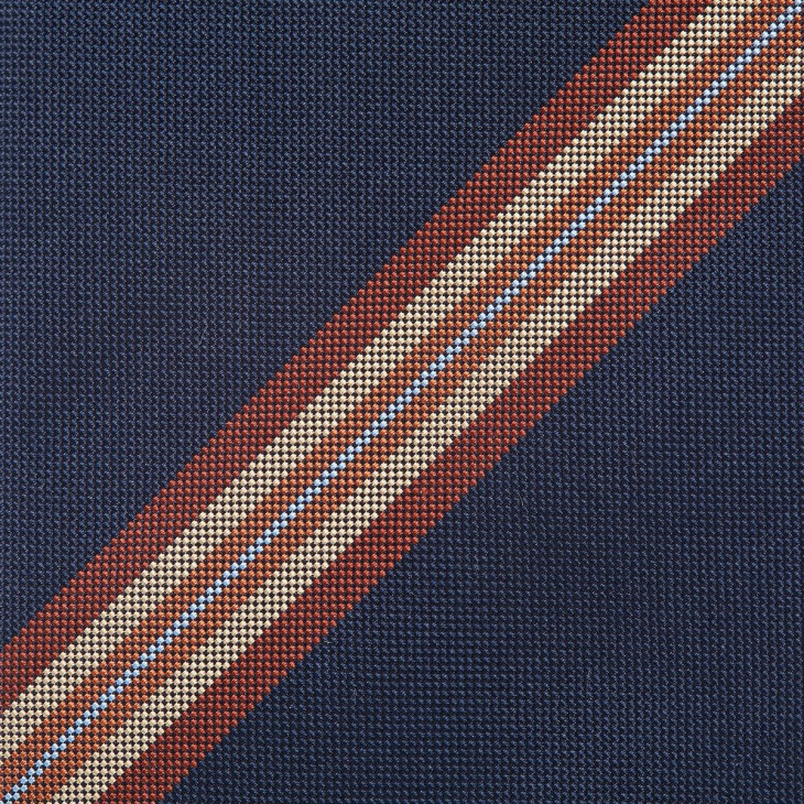 [クリケット] Cricket イタリア製生地 パネルストライプ ネクタイ ノーブル アカチャ