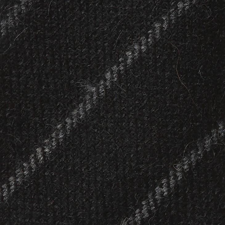 [ニッキー] Nicky ウール ストライプ柄 ネクタイ チャコールグレー