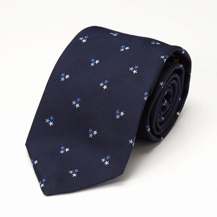 [クリケット] CRICKET モチーフ柄 ネクタイ ブルー
