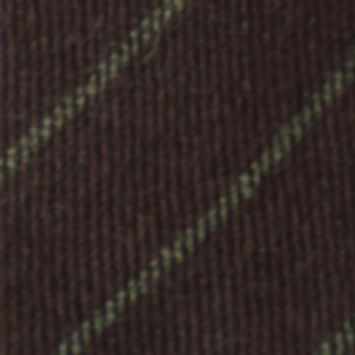 [ニッキー] Nicky ウール ストライプ柄 ネクタイ ブラウン