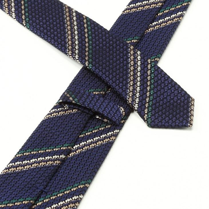 [ニッキー] Nicky フレスコ織り ストライプ柄 ネクタイ コン
