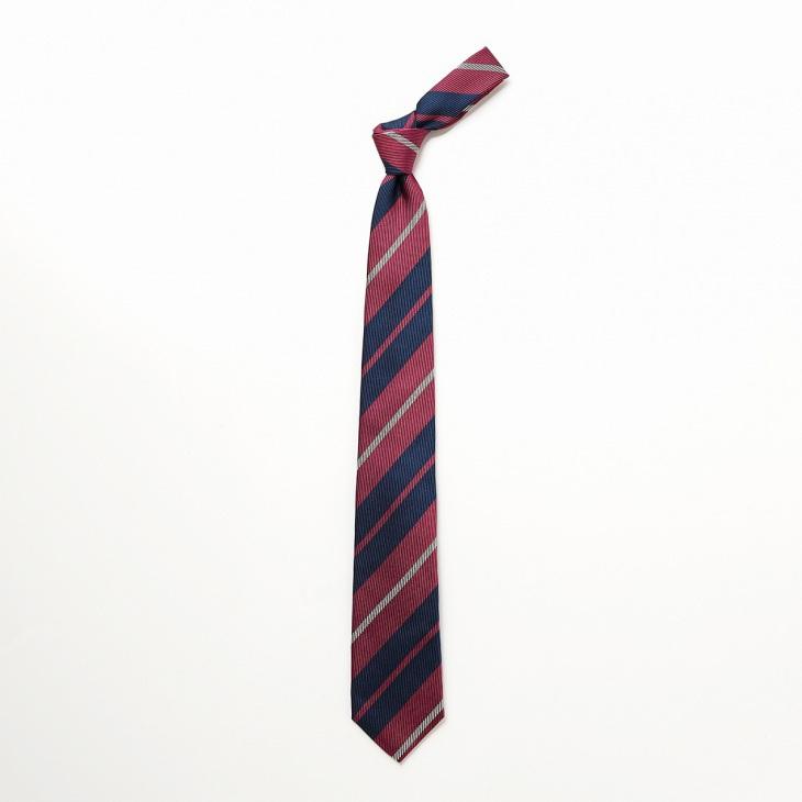 [クリケット] CRICKET 綾織りストライプ柄 ネクタイ ブルー