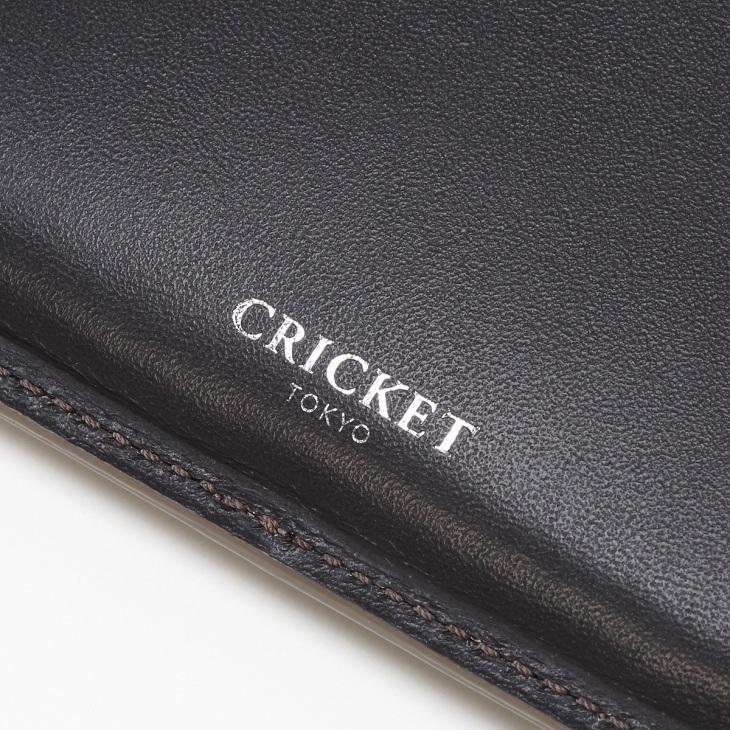 [クリケット] Cricket 水シボ型押し パルメラート 名刺入れ グレー