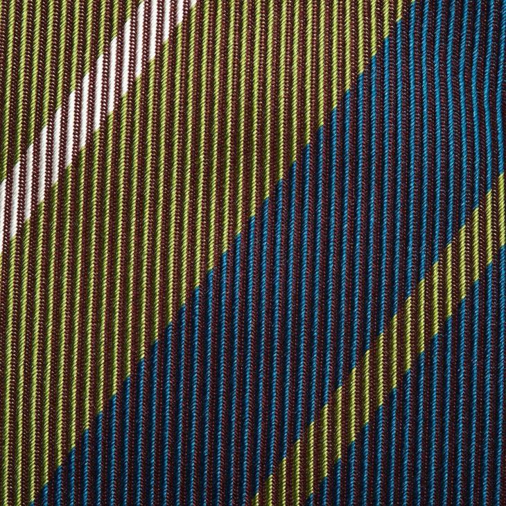 [クリケット] CRICKET 綾織りストライプ柄 ネクタイ オリーブ