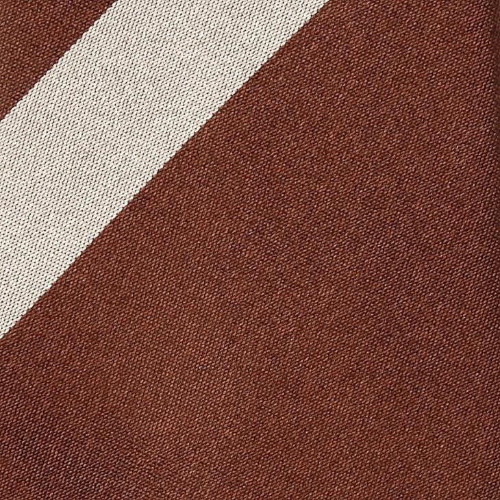 [ニッキー] Nicky サテン織り ビッグストライプ柄 ネクタイ ブラウン