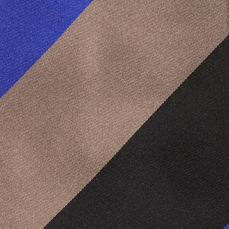 [ニッキー] Nicky サテン織り 3段ストライプ柄 ネクタイ ブルー