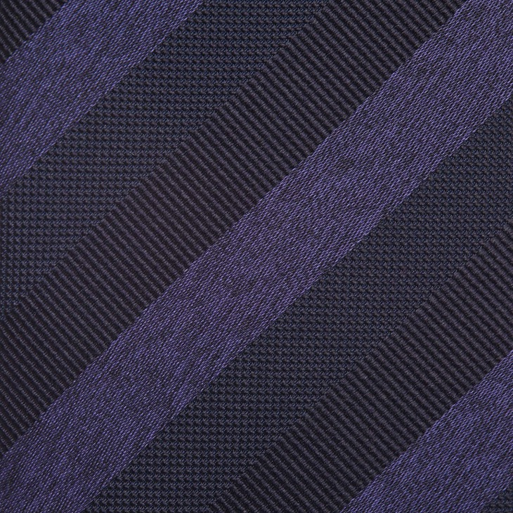 [クリケット] CRICKET メランジレップサテンミックス織りストライプ無地 ネクタイ コン