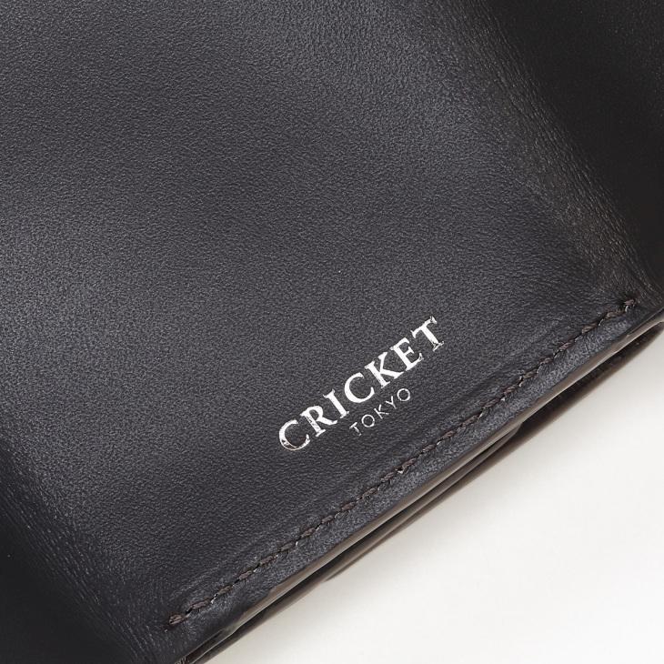 [クリケット] Cricket 水シボ型押し パルメラート 三つ折り ウォレット グレー