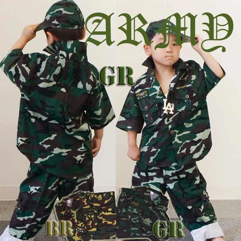 A0470-Kid's迷彩服3点Set