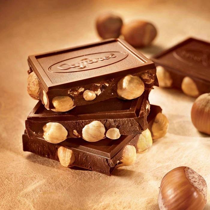 【タブレットチョコレート】プレミアムタブレットホールヘーゼルナッツダーク