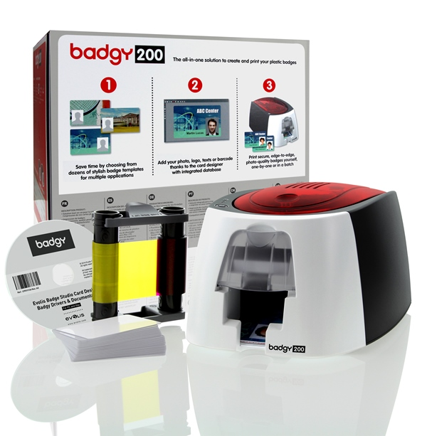 EVOLIS カードプリンタ Badgy200(バッジー200) B22URS