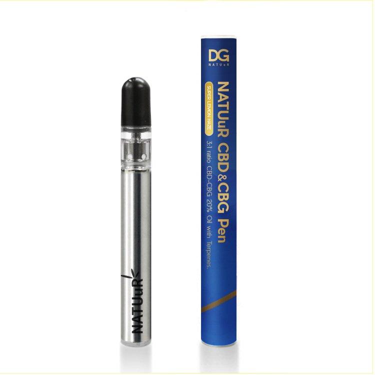CBD+CBG ペン/CBD15%+CBG5%  ナチュール使い捨て CBDペン  / NATUuR CBD15%+CBG5% Oil with Terpenes Disposable Vape PEN
