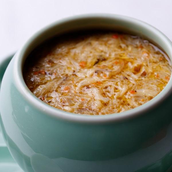 上海蟹あんかけフカヒレの壺煮込み