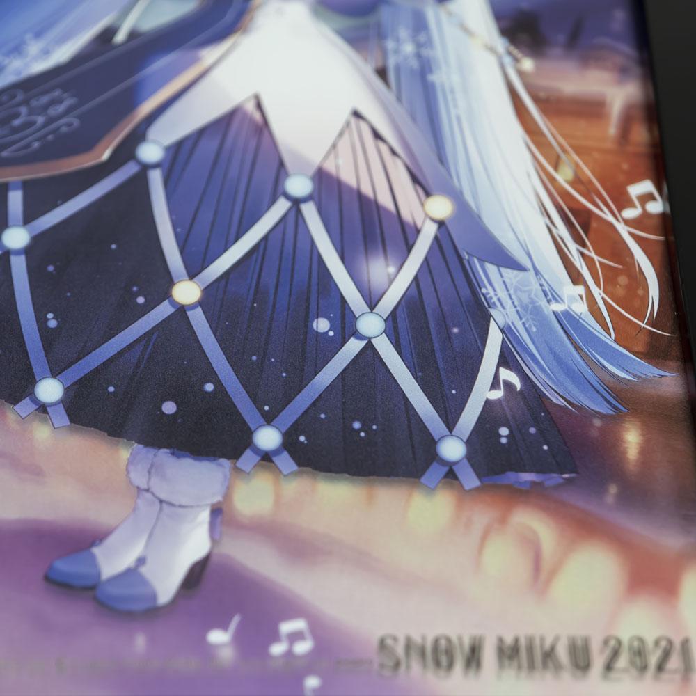 SNOW MIKU 2021/B4パブミラー 初音ミク メインビジュアル (Art by necömi)