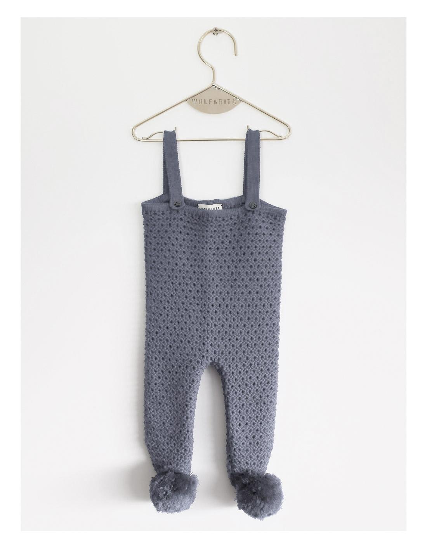 ●WOLF & RITA ウルフ&リタ 日本限定発売 EMANUEL -Feet Knit Leg 脚付きパンツ GREY 6-12M