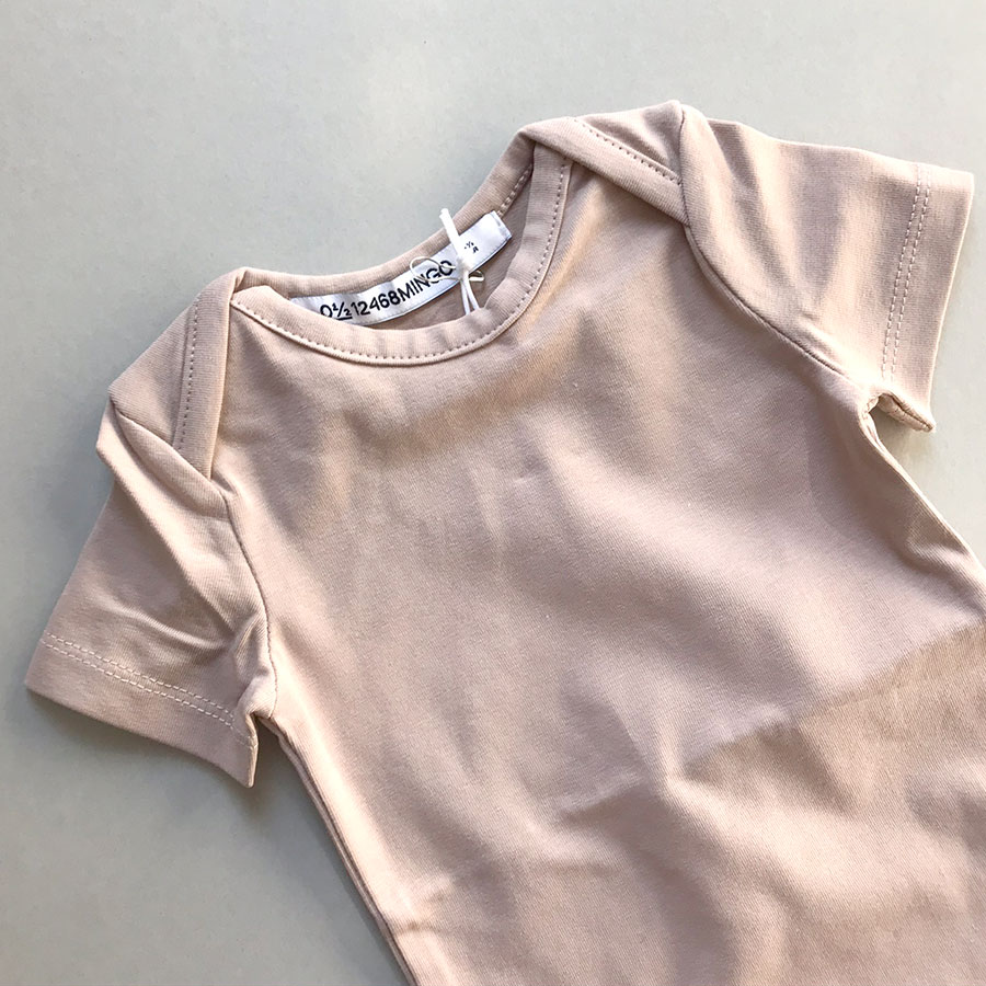 [30%OFF] From Netherlands MINGO Bodysuit short sleeves FAWN 新生児/60/70