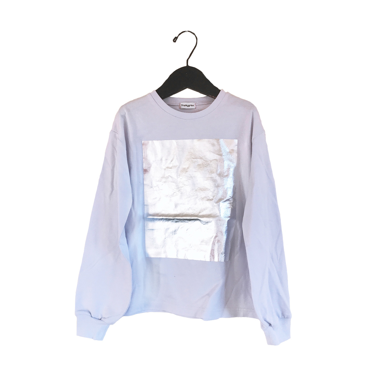 ●frankygrow SQUARE FOIL L/S TEE / WOMEN パープル