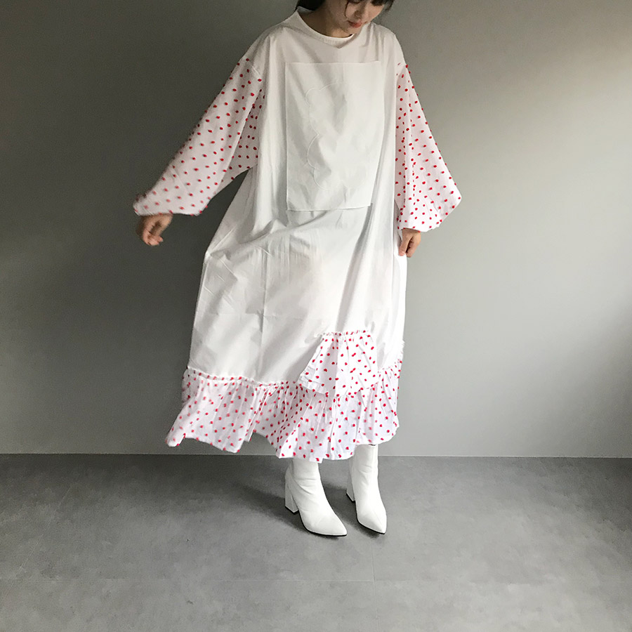 [30%off] frankygrow BEAR EMBROIDERY BONBON CUT JQ DRESS WHITE WOMEN franky grow フランキーグロウ\ワンピース