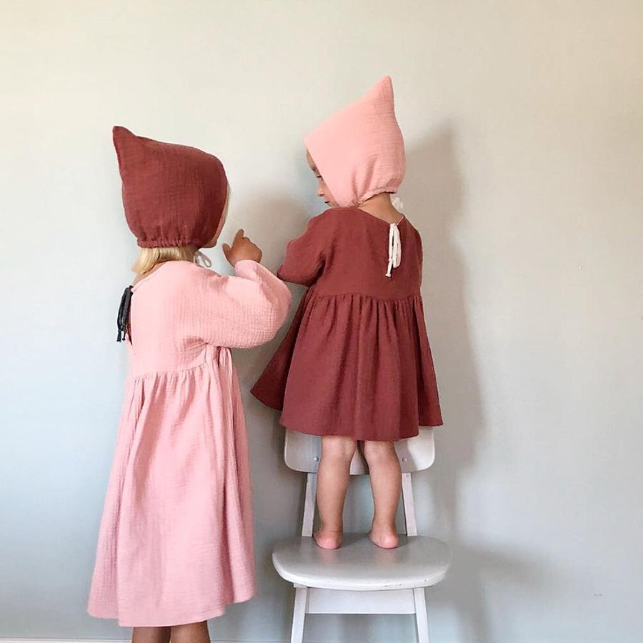 ●ドイツから liilu pixie bonnet オーガニックコットン [※1 クリックポスト可] rose