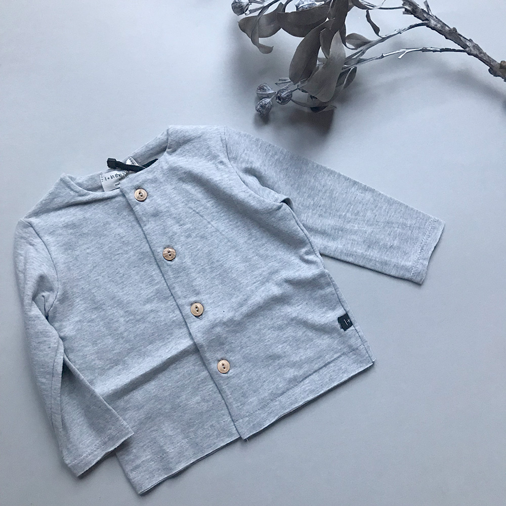 [50%OFF] From spain 1+in the family AINA open t-shirt GREY NB-60/-/- organic cotton