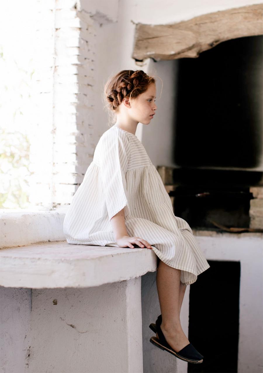 [30%OFF] From germany liilu  organic cotton liilu dress Sandy stripes -/8-10/10-12Y