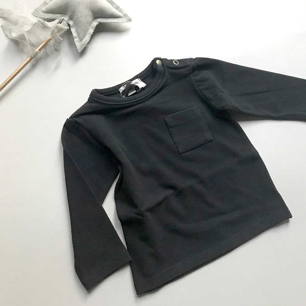 [50%OFF] From spain 1+in the family BILBAO long sleeve t-shirt BLACK NB-60/70-80/80-90