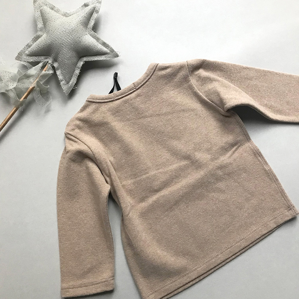 [50%OFF] From spain 1+in the family BILBAO long sleeve t-shirt BEIGE NB-60/70-80/80-90