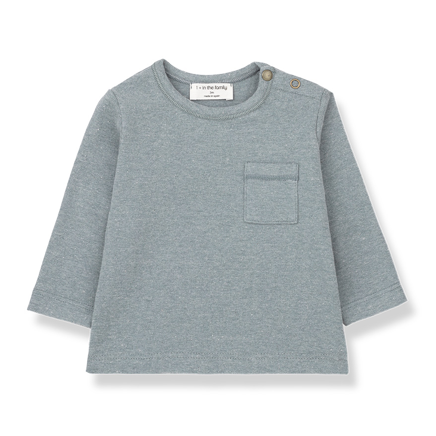 [50%OFF] From spain 1+in the family BILBAO long sleeve t-shirt LIGHT BLUE NB-60/-/-