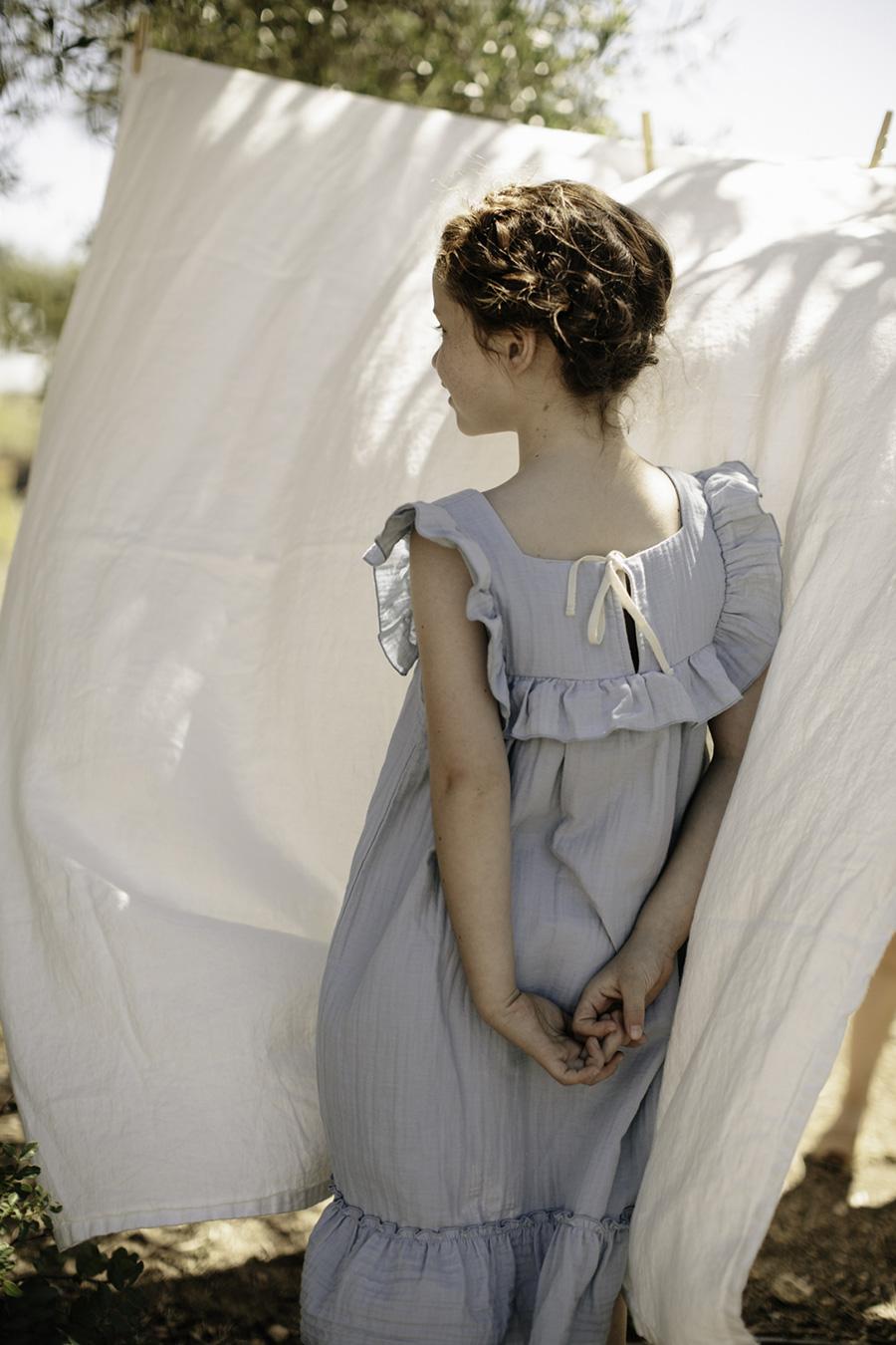 [30%OFF] From germany liilu Lina dress -/-/4-6Y Sandy stripesORGANICCOTTON