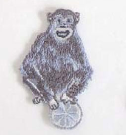 keikooogami 大神慶子 アイロンアップリケ Monkey 2枚セット