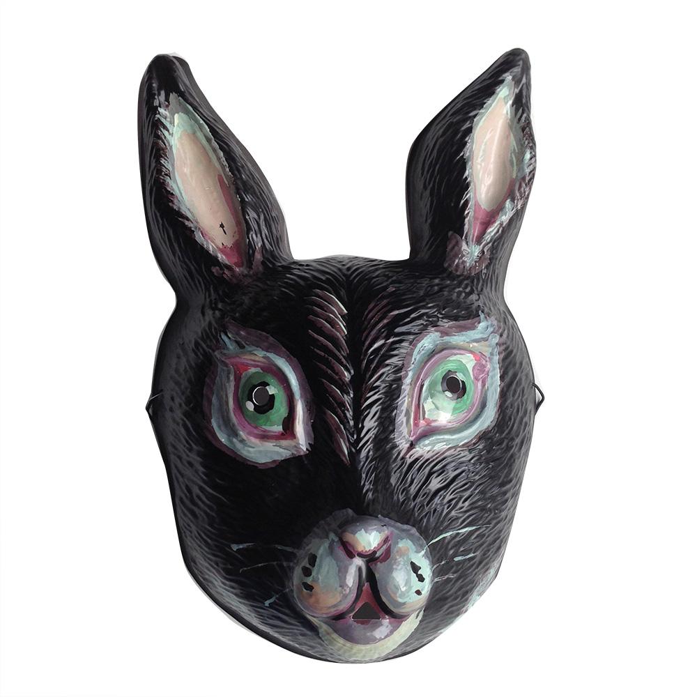 NathalieLete ナタリー・レテ RabbitMask Noir ラビットマスク 黒