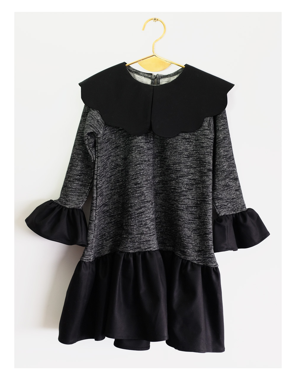 ●WOLF & RITA ウルフ&リタ ODETE - Dress BLACK /GREY -/-/-/-