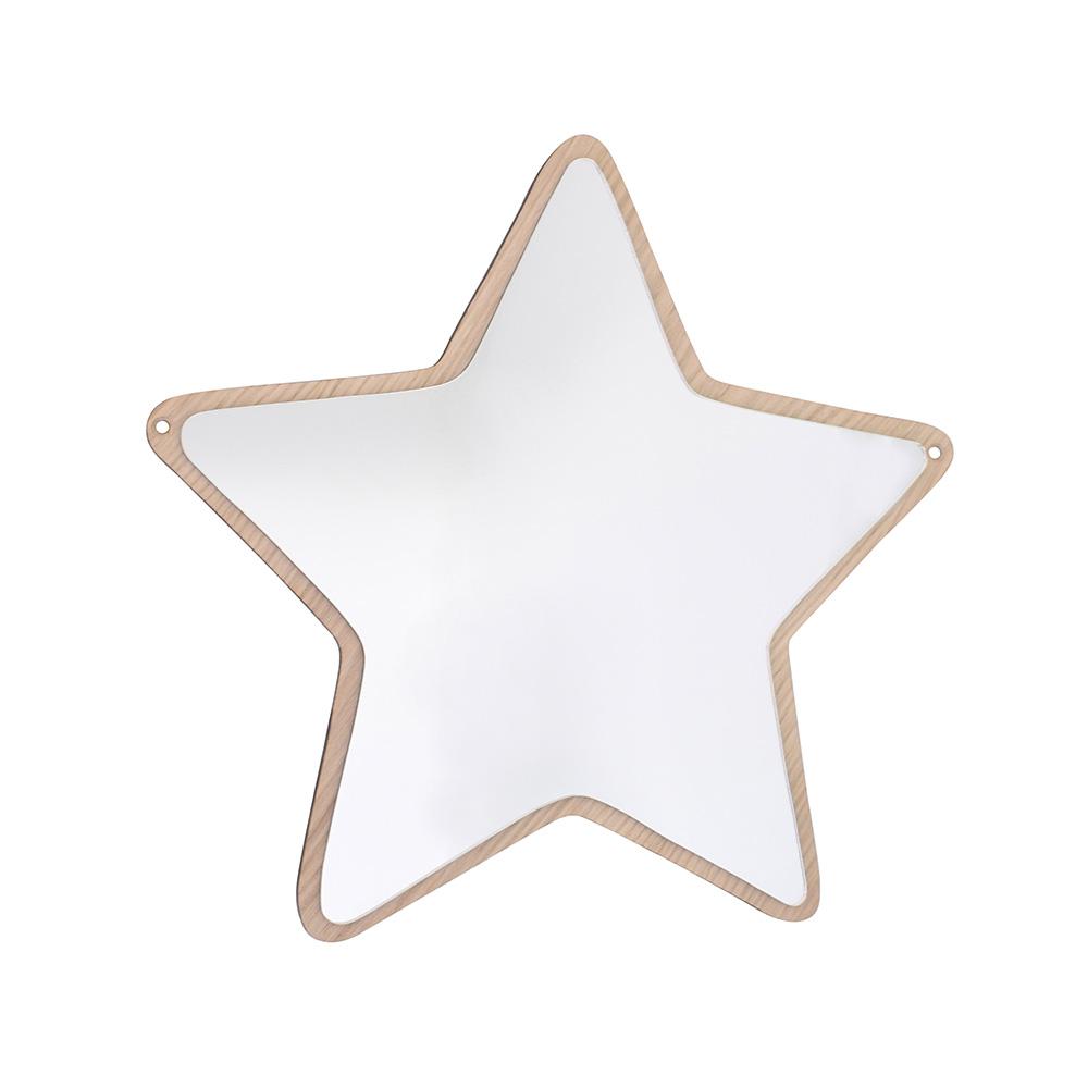 デンマークから Maseliving メーセリビング オーク材 ×壁掛けミラー Star 約35 x 35cm